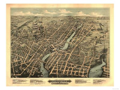 Pawtucket, Rhode Island - Panoramic Map