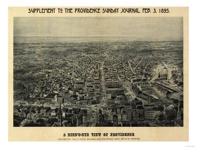 Providence, Rhode Island - Panoramic Map