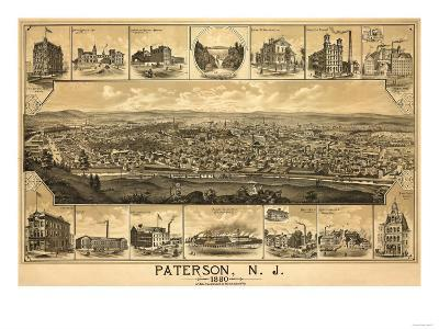 Paterson, New Jersey - Panoramic Map