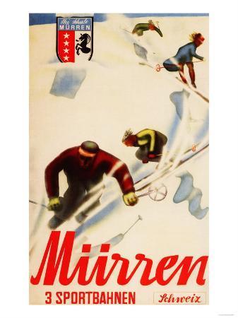 Murren, Switzerland - Inferno Races Promotional Poster