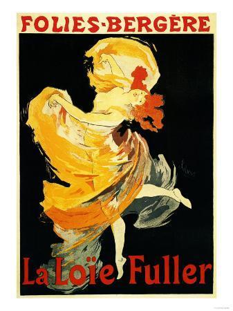 Paris, France - Loie Fuller at the Folies-Bergere Theatre Promo Poster