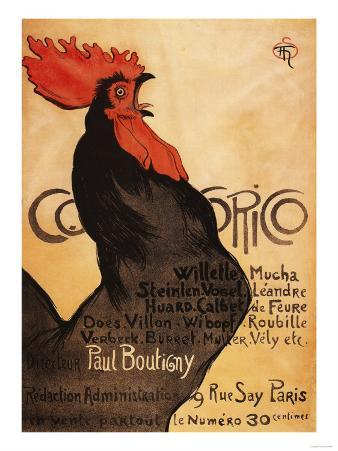 Paris, France - Periodical Cocorico Rooster Promotional Poster