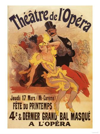 Paris, France - 4th Masked Ball at Theatre de l'Opera Promotional Poster
