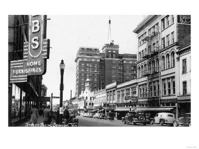 Spokane, Washington - View of Wall Street Corner