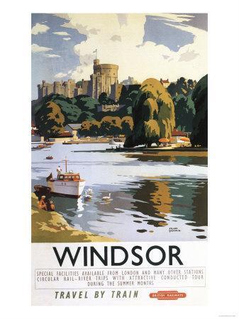 Windsor, England - British Railways Windsor Castle Thames Poster