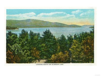 Schroon Lake, New York - Southern View of the Lake