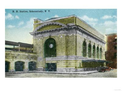 Schenectady, New York - Exterior View of the Railroad Station