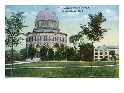 Schenectady, New York - Exterior View of Union College Library
