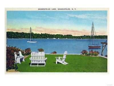 Skaneateles, New York - View of the Lake