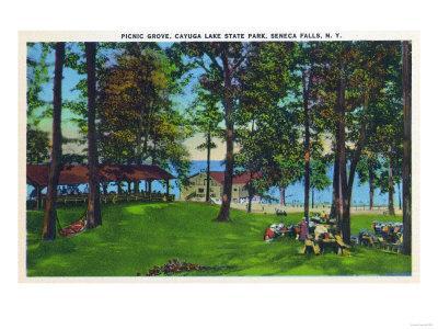 Seneca Falls, New York - Cayuga Lake State Park Scene