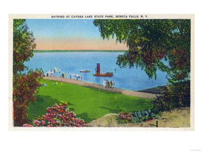 Seneca Falls, New York - Swimming Scene at Cayuga Lake State Park