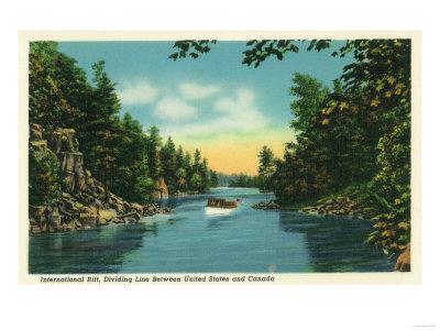 Thousand Islands, New York - View of International Rift