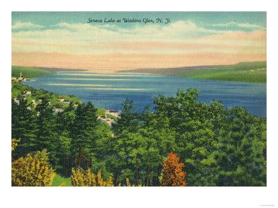 Watkins Glen, New York - Seneca Lake View
