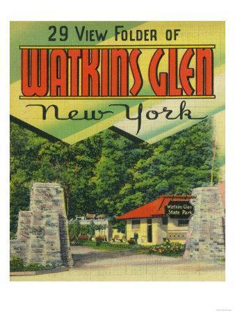 Watkins Glen, New York - Main Entrance View to Watkins Glen State Park