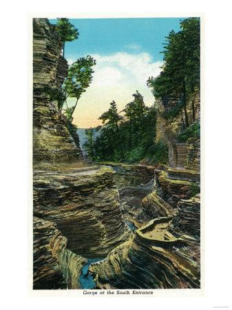 Watkins Glen, New York - View of the Southern Entrance Gorge