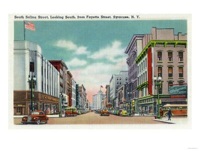 Syracuse, New York - Southern View of S Salina Street from Fayette Street