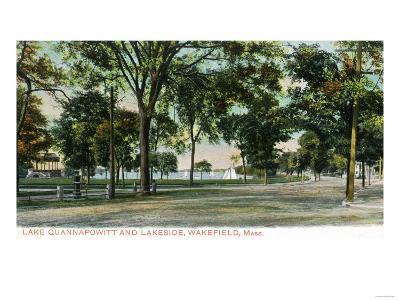 Wakefield, Massachusetts - View of Lake Quannapowitt and Lakeside