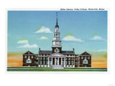 Waterville, Maine - Exterior View of Colby College Miller Library