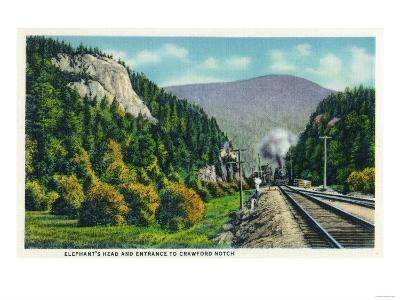 White Mountains, NH - View of Elephant's Head and Crawford Notch Entrance