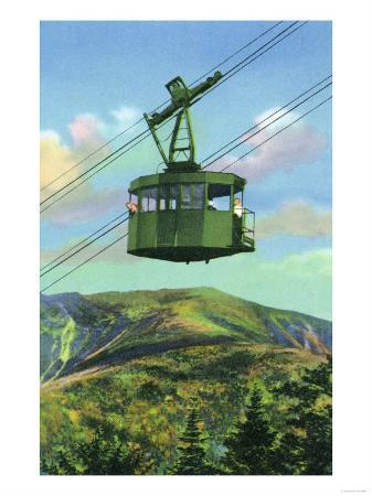 White Mountains, New Hampshire - View of the Cannon Mt Tram Ascending