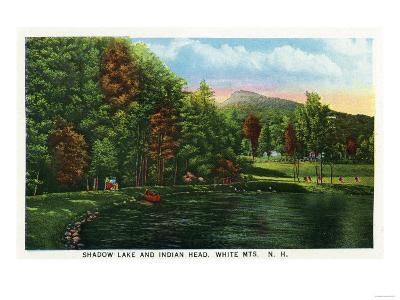 White Mountains, New Hampshire - Scenic View of Shadow Lake and Indian Head
