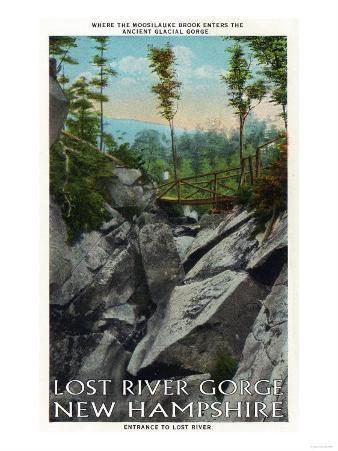 White Mountains, NH - Lost River Entrance View of a Ancient Glacial Gorge