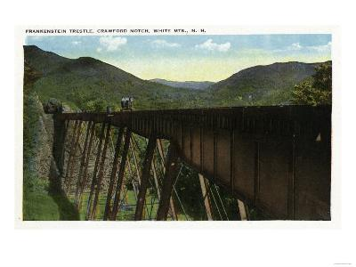White Mountains, New Hampshire - Crawford Notch View of Frankenstein Trestle