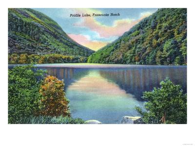 White Mountains, New Hampshire - Franconia Notch View of Profile Lake