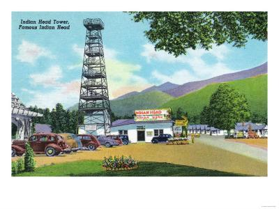White Mountains, New Hampshire - Indian Head and Indian Head Tower View