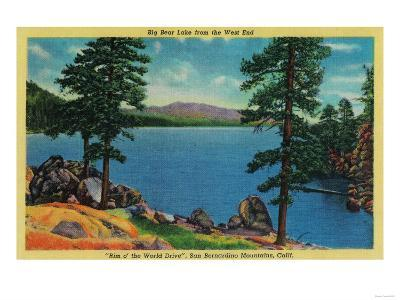 Big Bear Lake from the West End - Big Bear Lake, CA