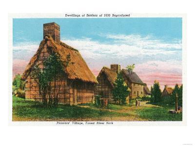 Salem, Massachusetts - Pioneers' Village Scene in Forest River Park