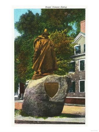 Salem, Massachusetts - View of the Roger Conant Statue