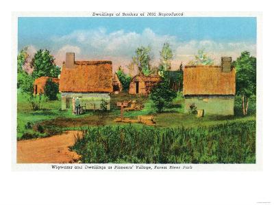 Salem, Massachusetts - Pioneers' Village Scene in Forest River Park No. 2