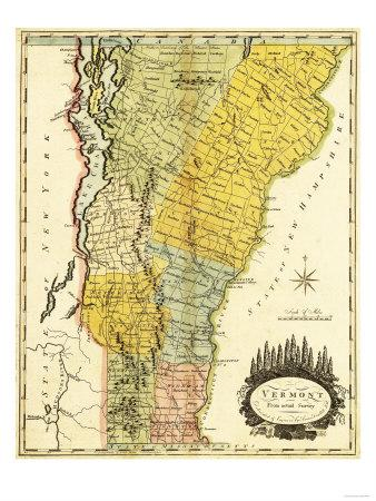 Vermont Panoramic Map Posters By Lantern Press At Allposterscom - Vermont-on-us-map