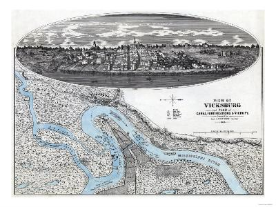 Siege of Vicksburg - Civil War Panoramic Map