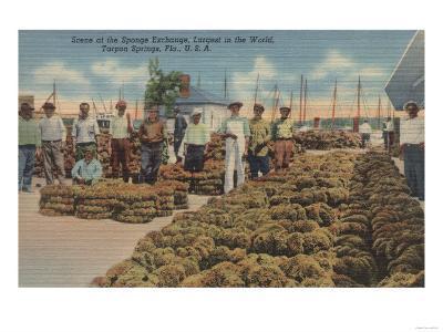 Tarpon Springs, FL - Scene of Sponge Exchange