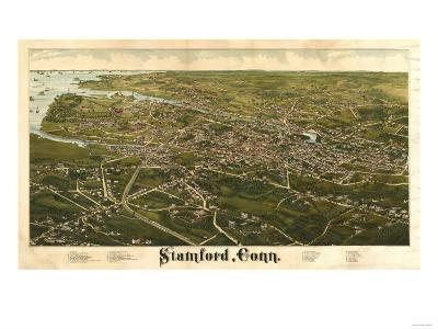 Stamford, Connecticut - Panoramic Map