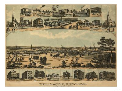 Willimantic, Connecticut - Panoramic Map