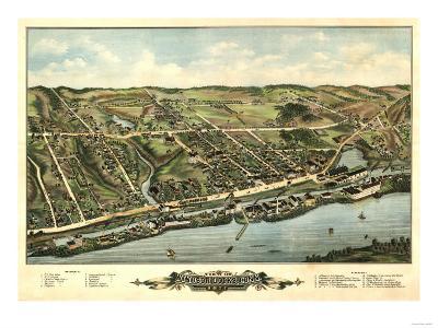 Windsor Locks, Connecticut - Panoramic Map