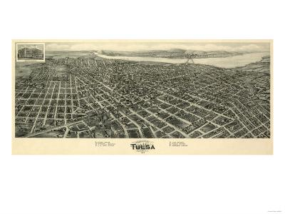 Tulsa, Oklahoma - Panoramic Map