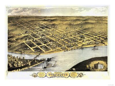 Wyandotte County, Kansas - Panoramic Map