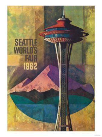Seattle, Washington - Space Needle World's Fair Promo Poster No. 2