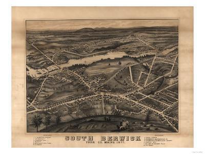South Berwick, Maine - Panoramic Map