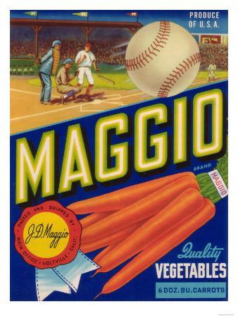 Maggio Vegetable Label - Holtville, CA