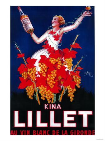 Kina Lillet Vintage Poster - Europe