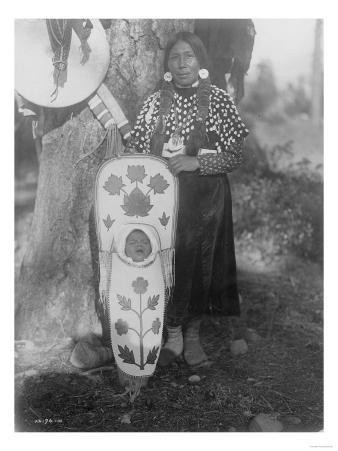 Flathead Indian woman with baby in cradleboard Photograph