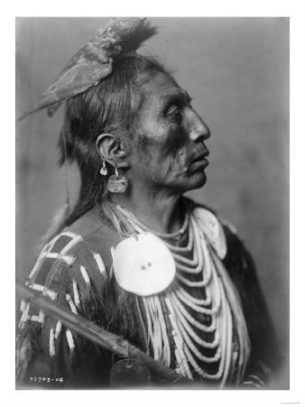 Crow Indian from Montana Native American Curtis Photograph