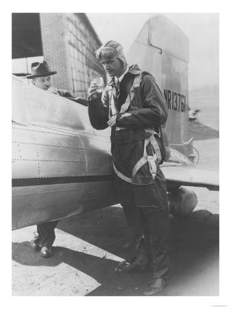 Howard Hughes Pilot Boarding Plane in Full Uniform Photograph - Newark, NJ