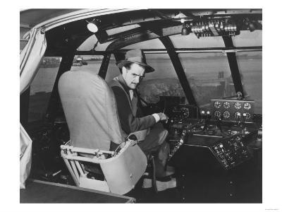 Howard Hughes in Spruce Goose Wooden Plane Photograph - Los Angeles, CA