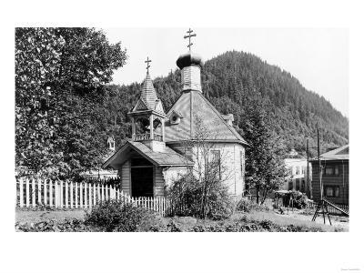 Juneau, Alaska View of Russian Church Photograph - Juneau, AK